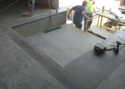 Dock leveler replacement project for American Containers, Plymouth, IN (completed concrete)