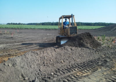 Site prep work in Bremen, IN